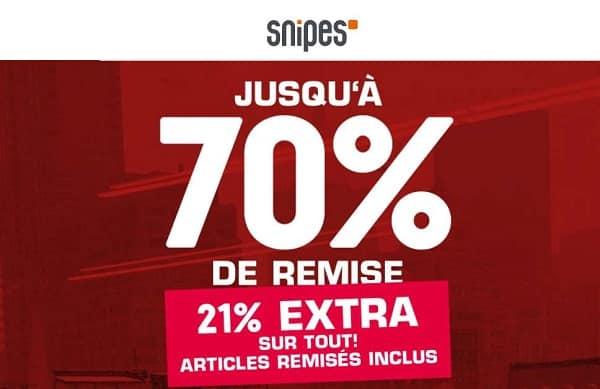 21% De Remise Supplémentaire Sur Les Soldes Snipes