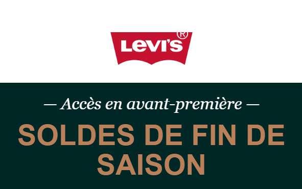 Aujourd'hui Code Promo Levi's Soldes