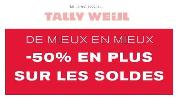 Bon Plan Soldes Tally Weijl 50% De Remise Supplémentaire Sur Les Articles Démarqués Avec Ce Code Promo
