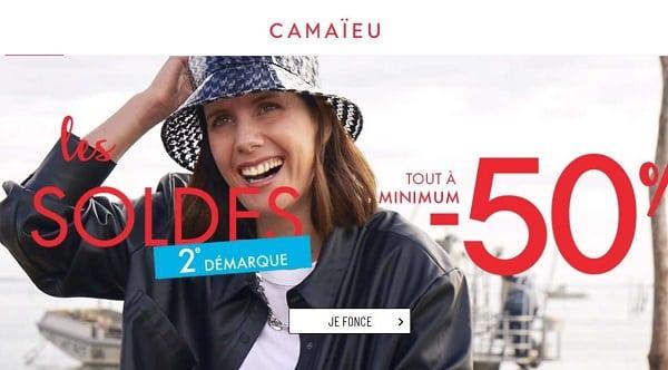 Minimum 50% Dans La Deuxième Démarque Soldes Camaïeu