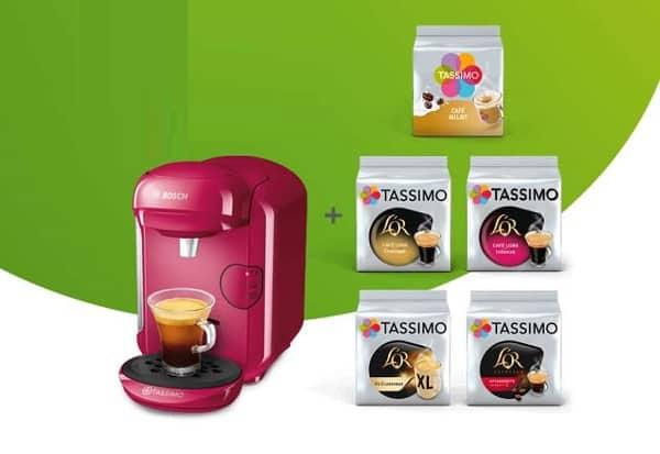 Offre Pack Machine Tassimo Vivy 2 Et 5 Paquets De Dosettes