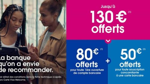 Ouverture D'un Compte Avec Cb Chez Boursorama 130€ Offerts