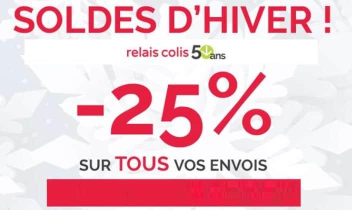 Pour Les Soldes Relais Colis Vous Offre Une Remise De 25% Sur Votre Envoi De Colis