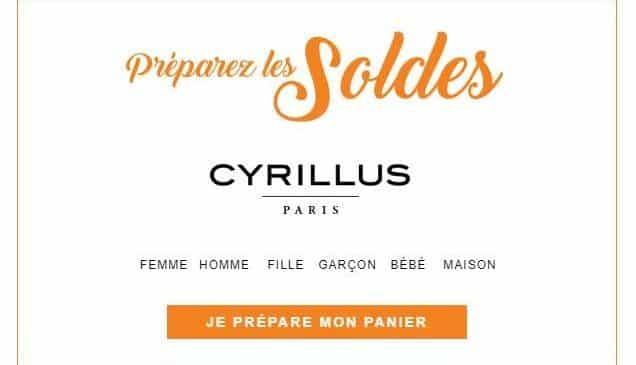 Préparez Les Soldes Cyrillus ! Articles Et Prix Soldés Visibles