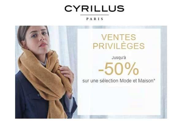 Ventes Privilèges Cyrillus