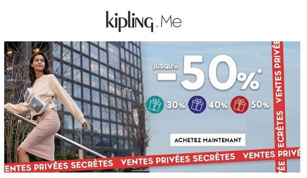 Ventes Privées Kipling Pré Soldes