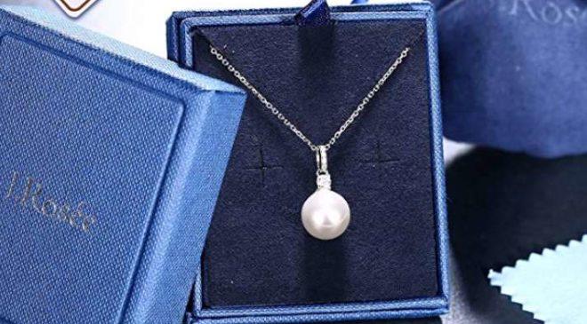 Collier En Argent Avec Pendentif Perle D'eau Douce Et Zirconium J. Rosée