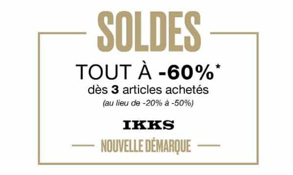 Ous Les Articles Des Soldes Ikks à 60% Dés Achat De 3 Articles