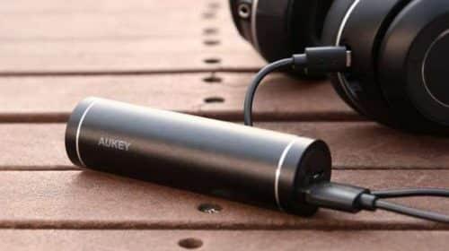 Petite Batterie Alu Cylindrique Externe 5000mah Aukey Pb N54