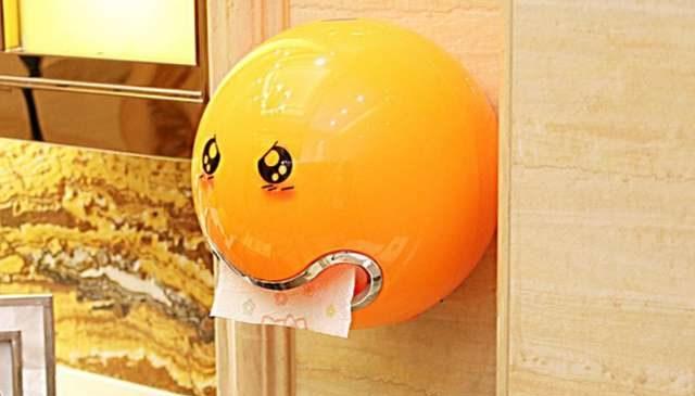 Porte Rouleau Essuie Tout Smiley 3d