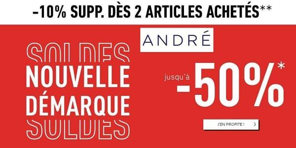 Remise Pour Les Soldes André Et 10% Suppl. Dès 2 Articles Et Livraison Gratuite