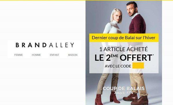 1 Acheté = Le Second Offert Sur Une Vente Privée Brandalley