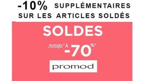 10% Supplémentaire Sur Tous Les Articles Démarqués Pour Les Dernières Heures Des Soldes Promod