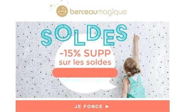 15% De Remise Supplémentaire Sur Les Soldes Berceau Magique