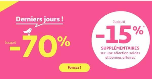 15% Supplémentaire Pour Les Derniers Jours Des Soldes Auchan