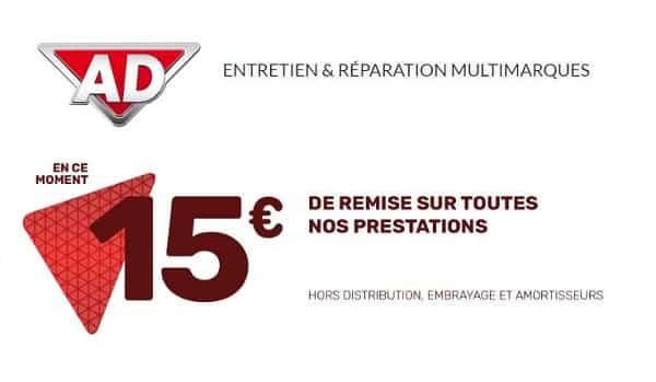 15€ De Reduction Sur Une Prestation Dans Un Garage Ad