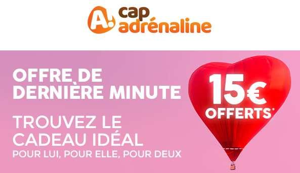 15€ De Remise Immédiate Sur Les Coffrets Cap Adrénaline