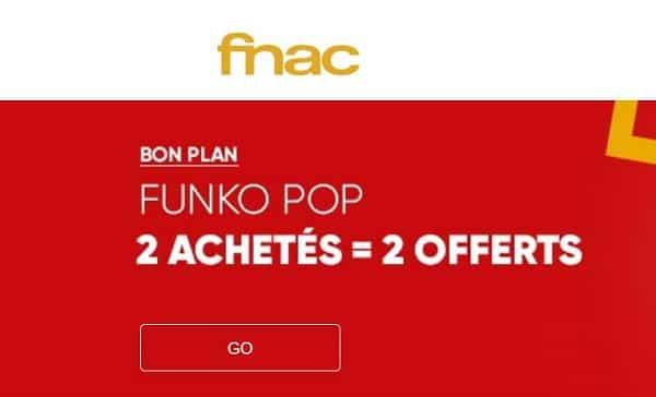 2 Figurines Funko Pop Achetés = 2 Gratuites (fnac)