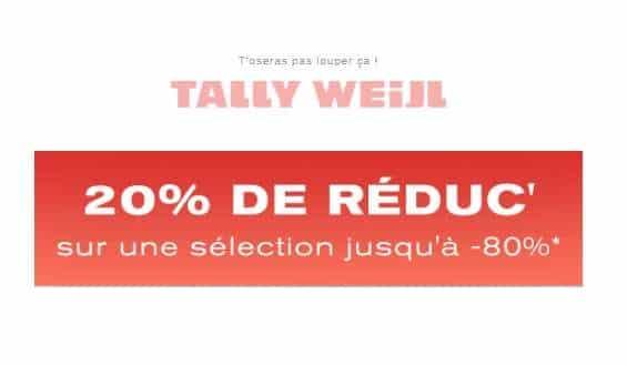 20% De Remise Supplémentaire Sur Les Articles En Promotion De Tally Weijl