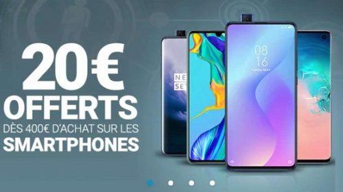 20€ De Remise Sur Les Smartphones Vendus Par Rue Du Commerce