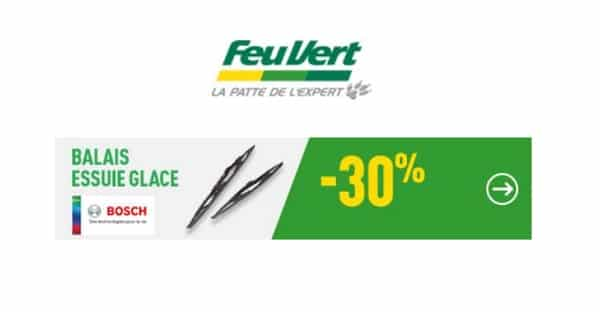 30% De Remise Sur Les Balais D'essuie Glace Bosch Chez Feu Vert