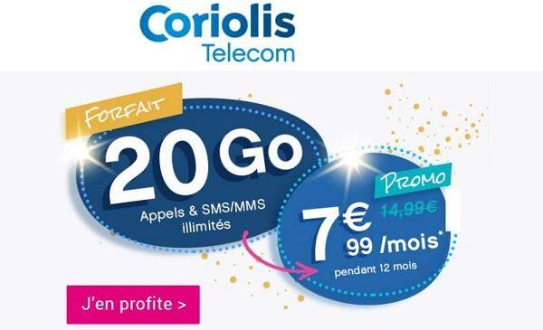 7,99€ Mois Le Forfait Sans Engagement Illimité 20 Go Coriolis
