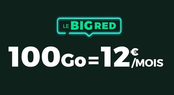 Alerte Bon Plan Forfait Big Red Sfr 100go = 12€
