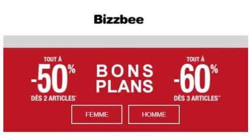 Bons Plans Bizzbee Tout à 50% Dès 2 Tout à 60% Dès 3 Articles