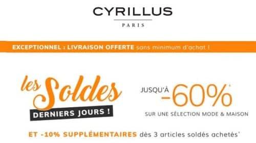 Derniers Jours Des Soldes Cyrillus