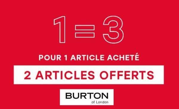 Déstockage Burton Pendant L'opération Petits Prix 1 Article Acheté = 2 Articles Offerts