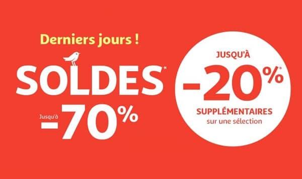 Jusqu'à 20% Supplémentaire Pour Les Derniers Jours Des Soldes Auchan