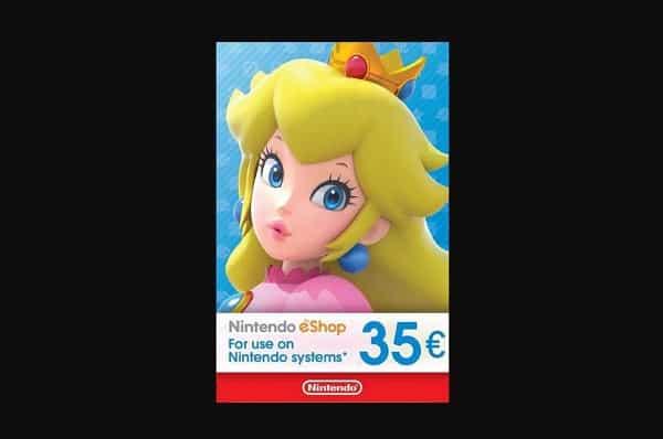 Offre Carte Nintendo Eshop Prépayée 35€ Moins Chere