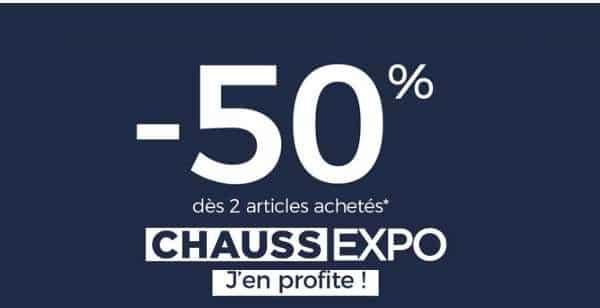 Offre Spéciale Chaussexpo 50% De Remise Sur Votre Commande Dès 2 Paires Achetées