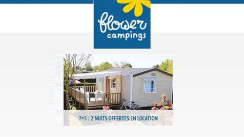 Offre Spéciale Flower Campings 7=5