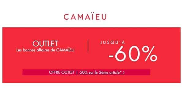 Opération Outlet Camaïeu 1 Acheté = Le Second à Moitié Prix