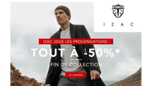 Opération Fin De Collection Izac Tout à 50% (prêt à Porter Masculin)