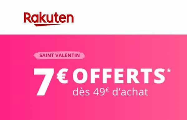 Rakuten Remise De Saint Valentin 7€