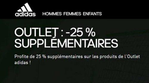 Réduction Supplémentaire Sur Tous Les Articles Outlet Adidas De 25%