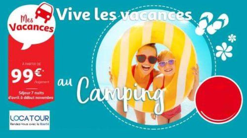 Vente Flash Séjours Mobilhomes Dès 99€ Hébergement Jusqu'à 6 Pers Auchan Voyages Locatour