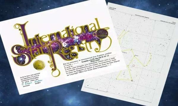 Baptiser Une étoile à Votre Nom International Star Registry