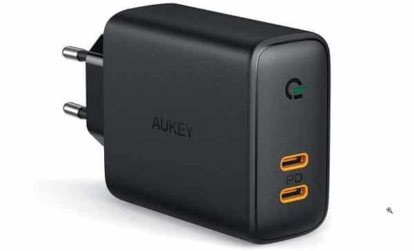 Chargeur Secteur 2 Ports Usb C Power Delivery 3.0 Aukey Pa D2