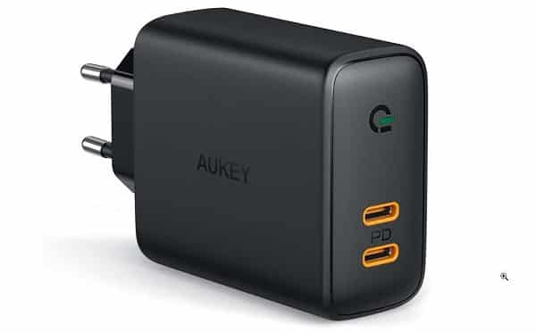 Chargeur Secteur 2 Ports Usb C Power Delivery 3.0 Aukey Pa D2