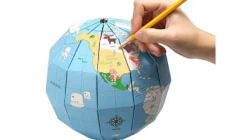 Globe Terrestre éducatif En Papier à Faire Soit Même Meco Eleverde