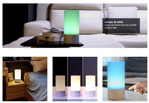 Lampe De Bureau Tactile 360° Aukey Lt T6