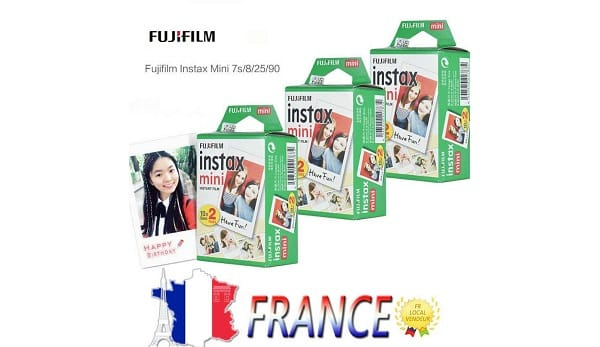 Lot De 60 Papiers Photo Instantané Fujifilm Instax Mini