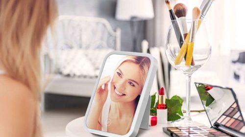 Miroir De Maquillage Led Hocosy Interrupteur Tactile, Luminosité Réglable, Portable