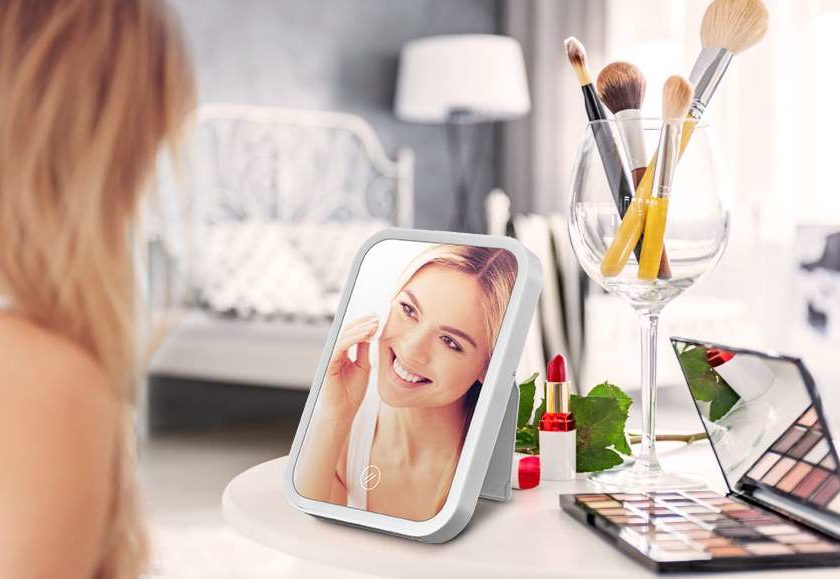 Miroir De Maquillage Led Hocosy Interrupteur Tactile, Luminosité Réglable, Portable