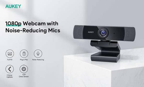 Webcam Haute Définition Full Hd 1080p Aukey Pc Lm1e