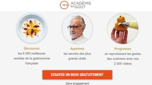 1 Mois D'abonnement Au Site L'académie Du Goût Gratuit