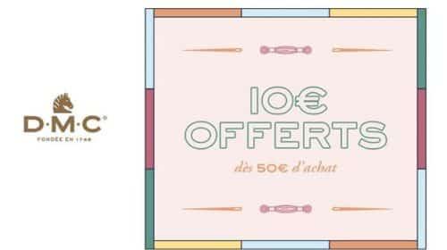 10€ Offerts à Partir De 50€ D'achat Sur La Boutique Dmc